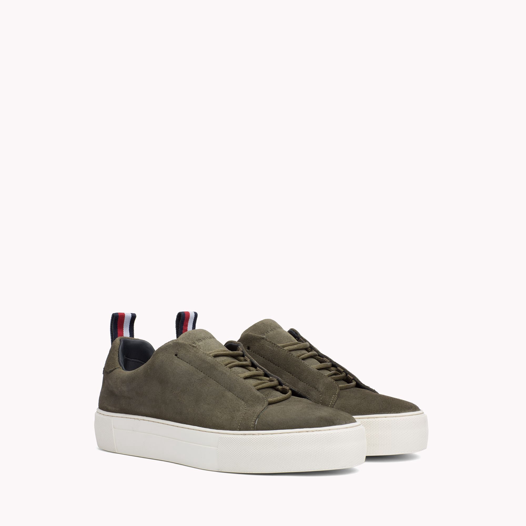 Lace-Up Leather Cupsole Trainers - Sales Up to -50% Tommy Hilfiger LSwYy