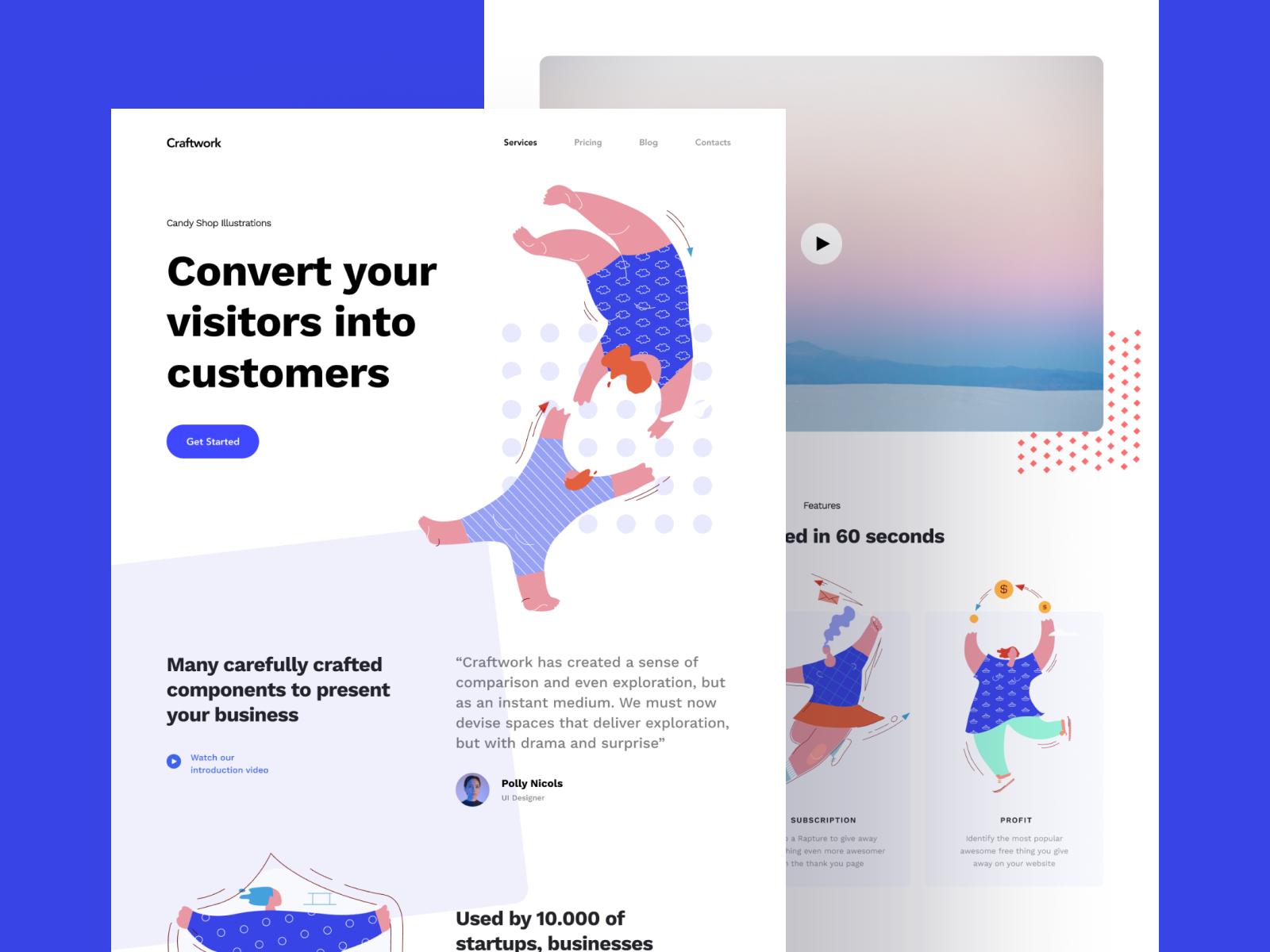 Illustrations + Web = 😍 Illustration, Tech branding, App