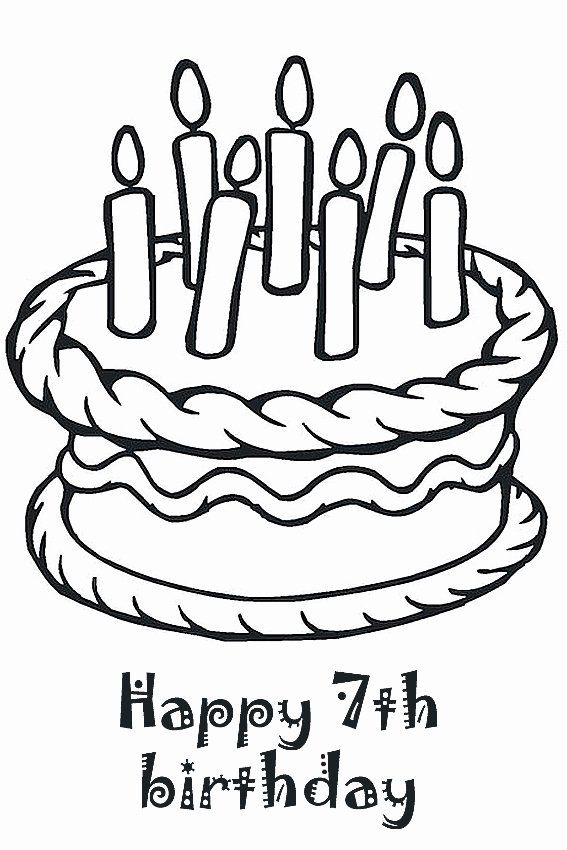 Happy Birthday Coloring Page Beautiful Happy Birthday Coloring Pages To Color In On Yo Happy Birthday Coloring Pages Birthday Coloring Pages Happy 7th Birthday