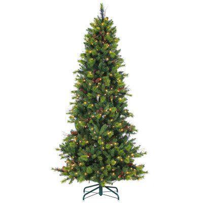 Lovely Michigan Spruce Pre Lit Slim Christmas Tree By Sterling Tree Company