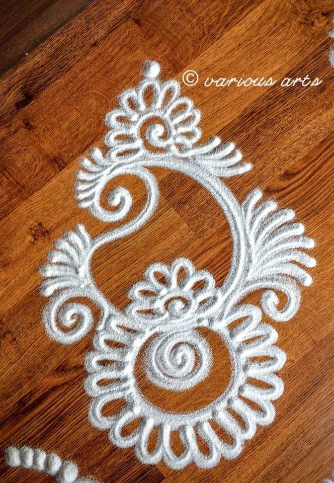 Simple rangoli design pinteres for Simple diwali home decorations