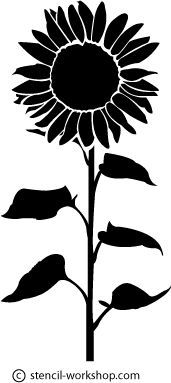 sunflower clipart black and white - Google Search ...