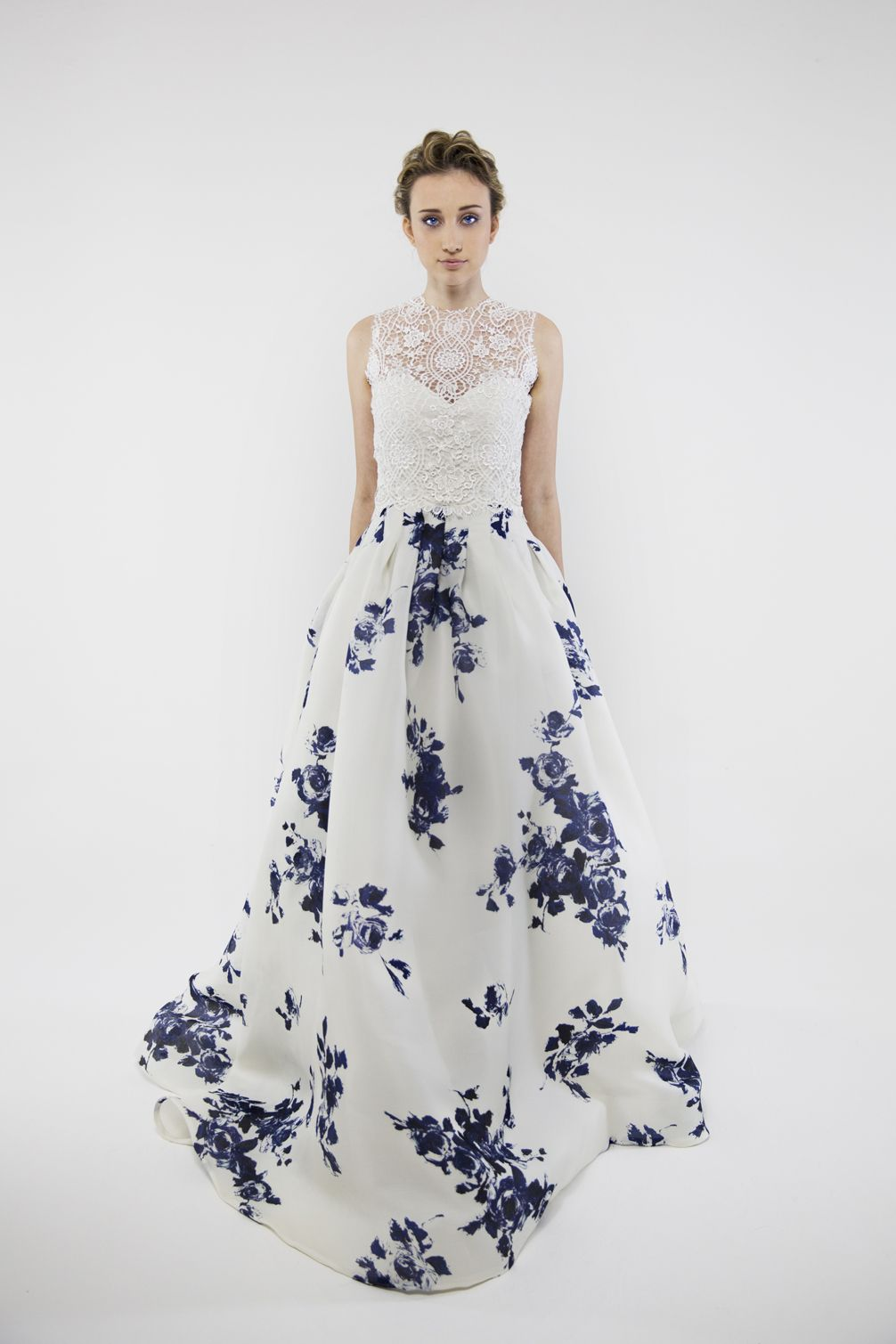 20 Floral Wedding Dresses That Will Take Your Breath Away Printed Wedding Dress Floral Wedding Dress Wedding Dresses 2014
