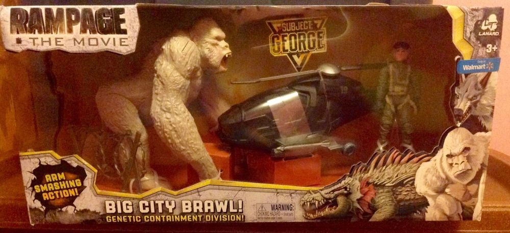 Rampage The Movie Big City Brawl George Arm Smashing Action Playset