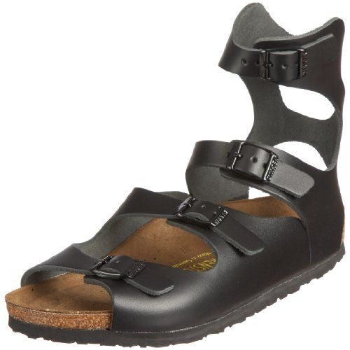Birkenstock sandals, Black leather sandals, Sandals