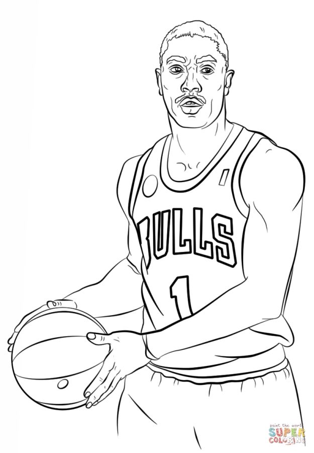 Derrick Rose Nba Coloring Pages