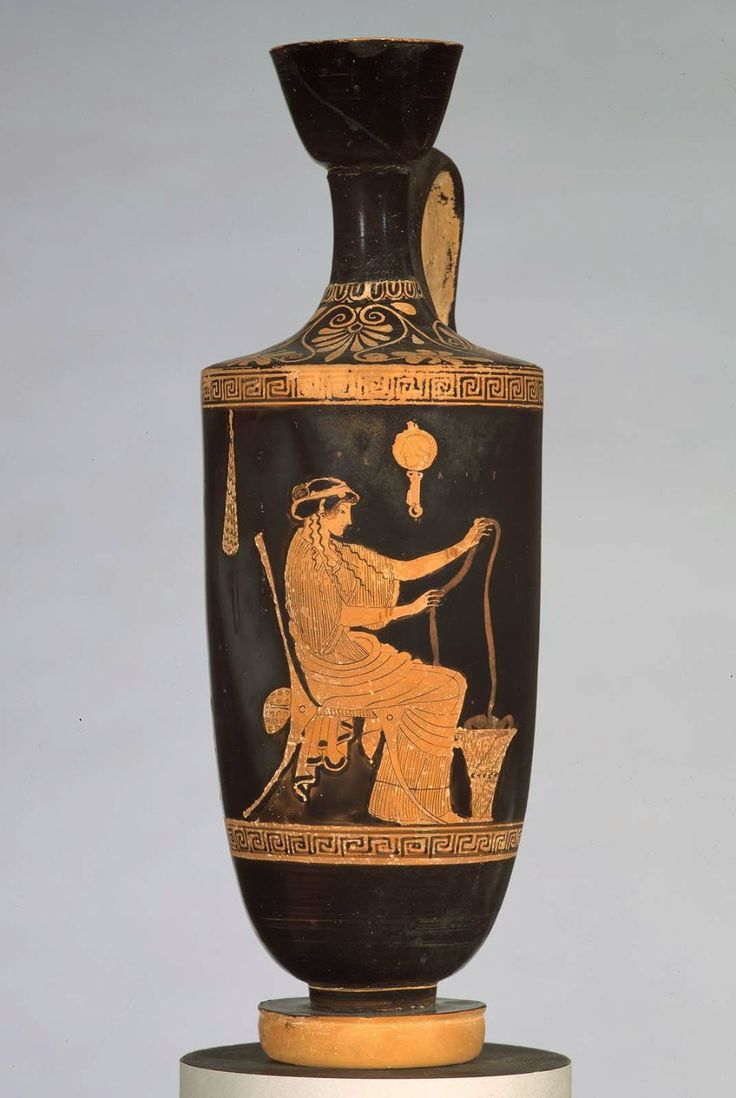 This image is of a greek lekythos which is a vessel used for ancient greece reviewsmspy