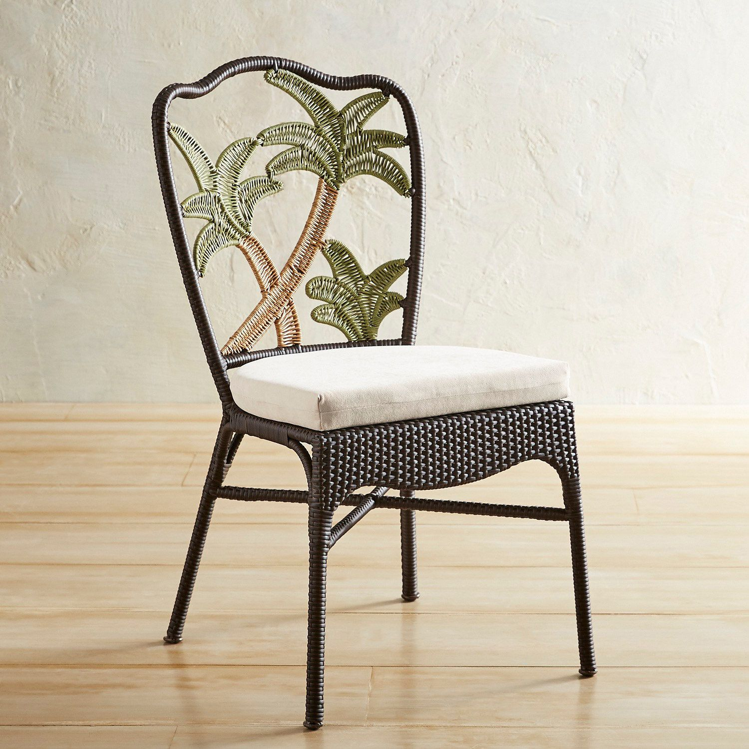 Fine Palm Tree Woven Dining Chair In 2019 Outdoor Dining Chairs Caraccident5 Cool Chair Designs And Ideas Caraccident5Info