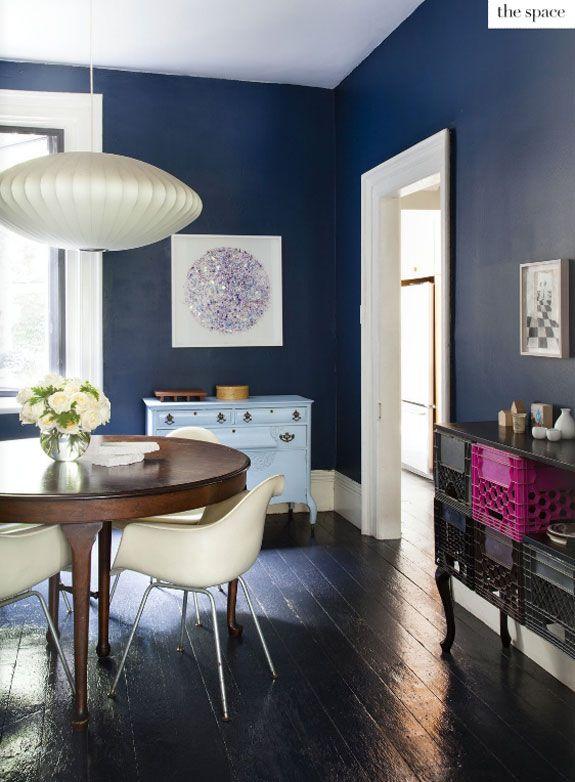Comedor en azul Paredes y puertas Pinterest Zuhause - wohnzimmer schwarz gelb