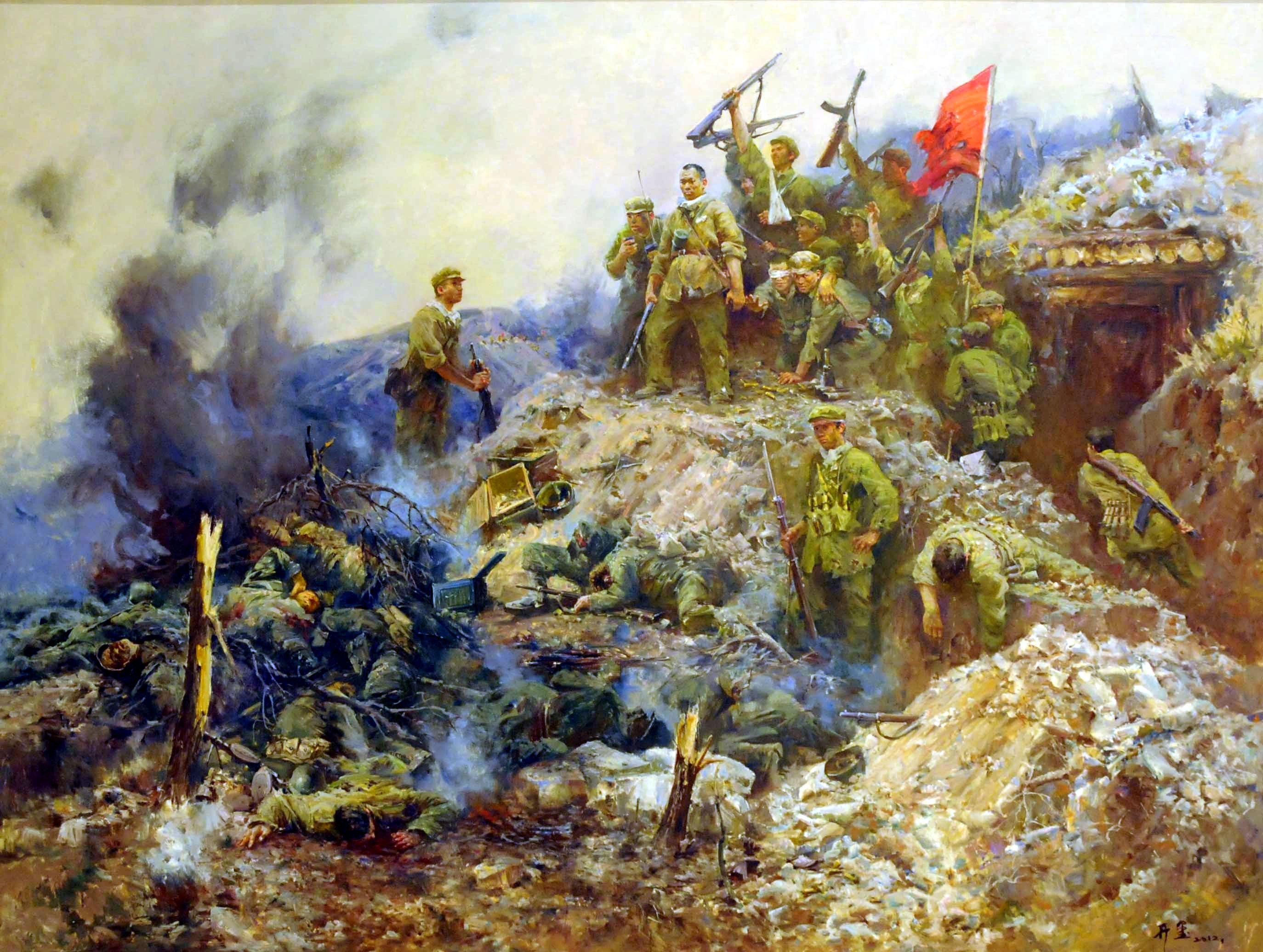 Battle of Triangle Hill, Korean War | Military art, Korean ...