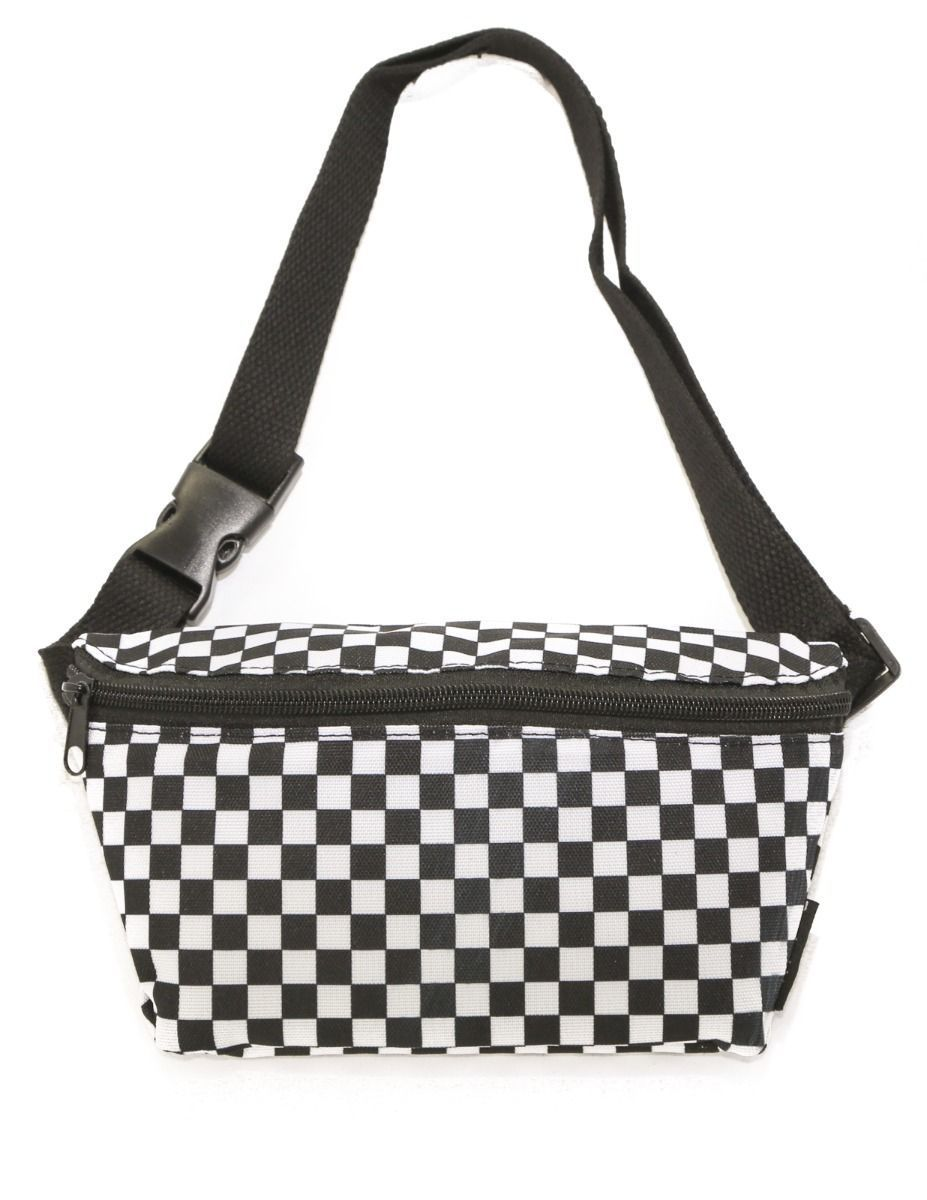 508af95a9201a7 Checkerboard Vans Inspired Custom Printed Streetwear Waist Bag Fanny Pack
