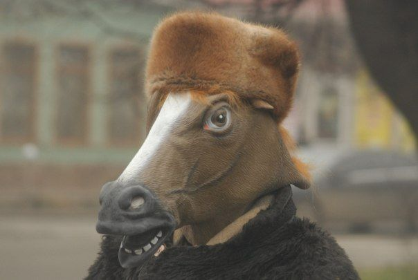 Youtumall Latex Brown Horse Head Mask.