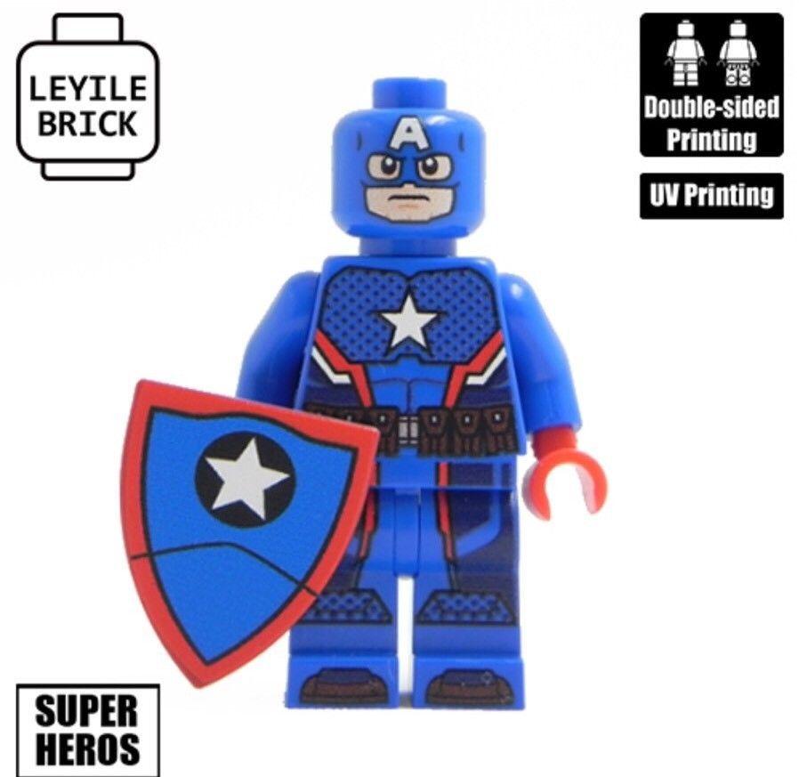 HYDRA CAPTAIN AMERICA **NEW** Custom Printed Marvel Block Minifigure