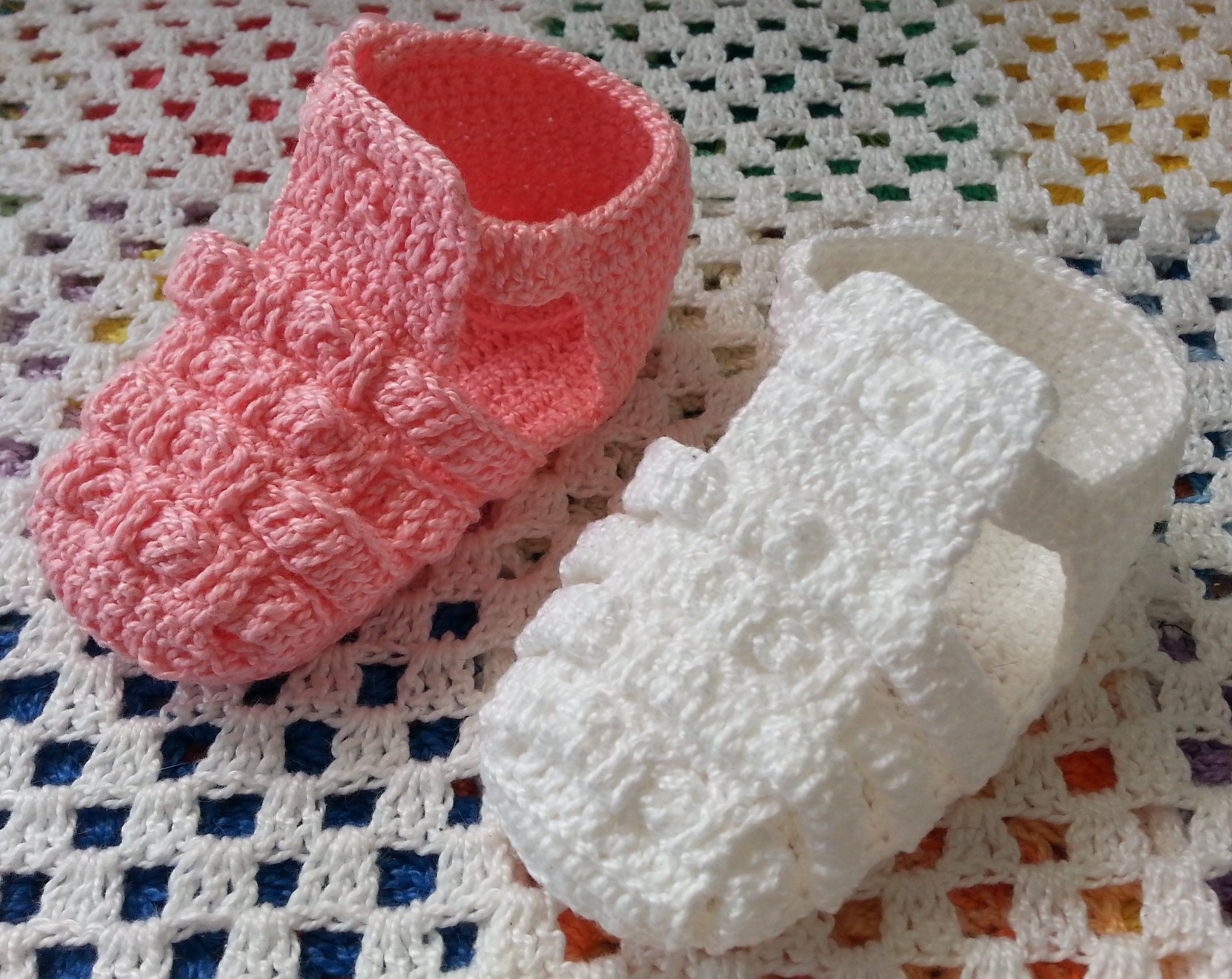 Melissa de crochê - Versão para CANHOTAS | sapatinhos baby ...