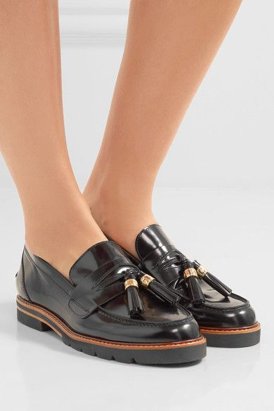 sale new Inexpensive online Stuart Weitzman Manila Leather Loafers sale exclusive clearance recommend XF2WiGZ
