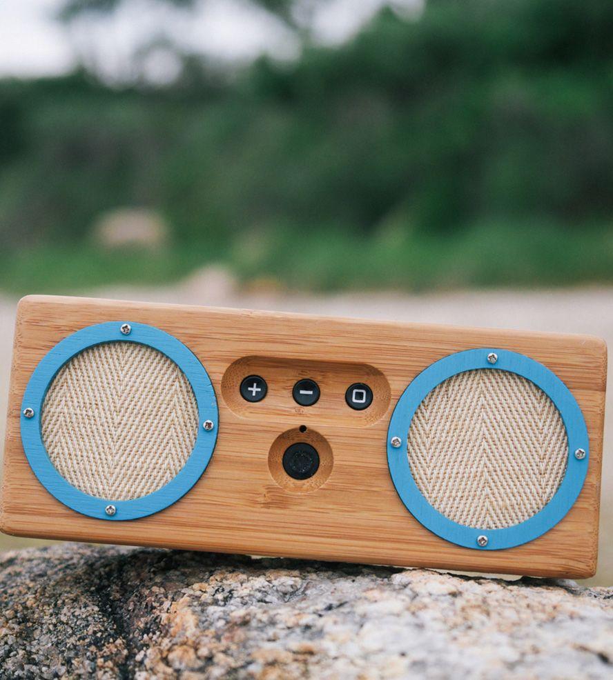 Venice Beach Bamboo Portable Bluetooth Speaker
