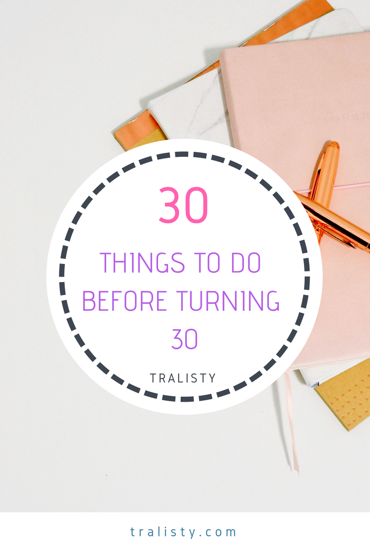Instead of doing a Bucket List, I decided to do a goal list, so here are 30 things I want to do before I turn 30.