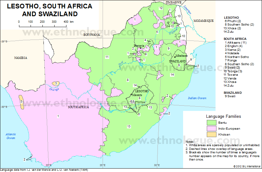 Map Of South Africa And Lesotho.South Africa Lesotho Swaziland Linguistic Map Com Imagens