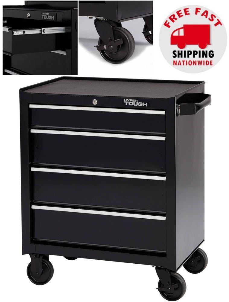 details about 4 drawer rolling tool chest mechanics steel cabinet rh pinterest com