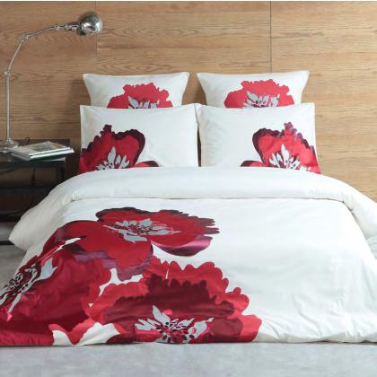 Margaret Muir Mm Studio Red Poppy Duvet Cover Set Duvet Cover Sets Beautiful Bedding Sets Red Duvet Cover