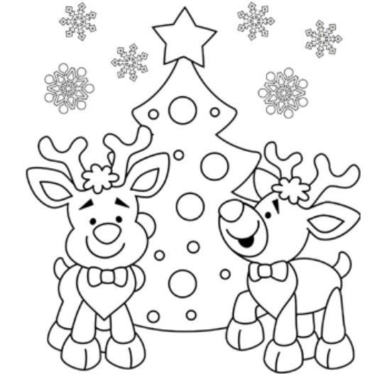 Pin by Rachael Kauffman on Coloring and Drawing Pinterest Craft - new christmas tree xmas coloring pages