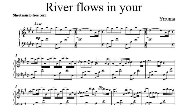 River Flows In You Sheet Music Yiruma Piano Sheet Music With