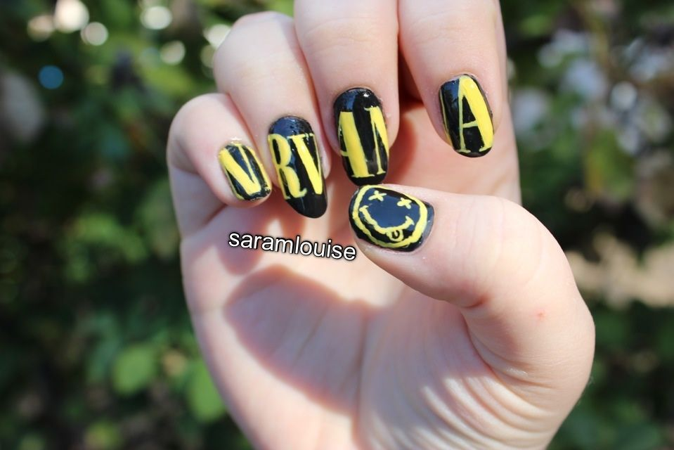 Nirvana Nail Art by ~saramlouise on deviantART | nirvana | Pinterest ...