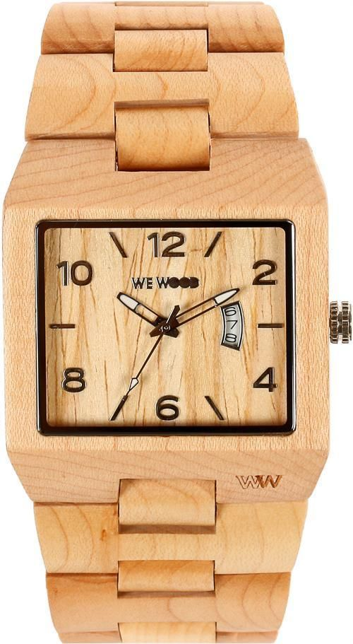 Wewood Wooden Watch Sculptor Beige Mens Mans Square Face Wood Timepiece Ebay Wooden Watches For Men Wooden Watch Wewood