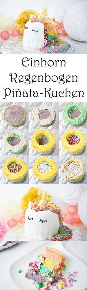 Photo of Machen Sie sich selbst einen Einhorn-Regenbogen-Piñata-Kuchen – Mama Kreativ