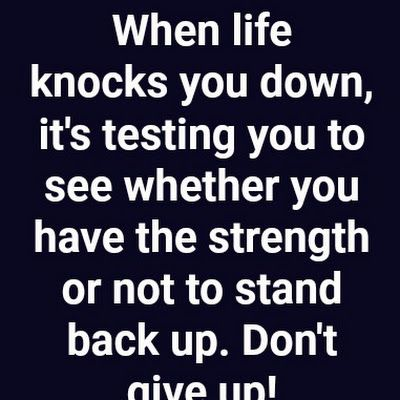 When Life Knocks You Down Life Quotes Quotes Inspiring Quotes About Life