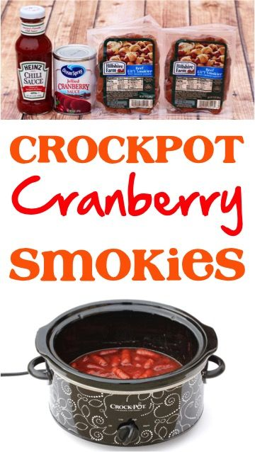 Crock Pot Cranberry Little Smokies Recipe!  Just 3 ingredients and you've got the perfect easy appetizer for holidays and parties! | NeverEndingJourneys.com