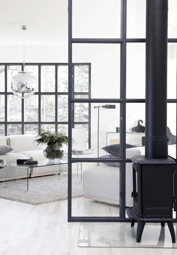 parete vetrata per dividere cucina e salotto parete di vetro  Parete vetrata nel 2019 ...