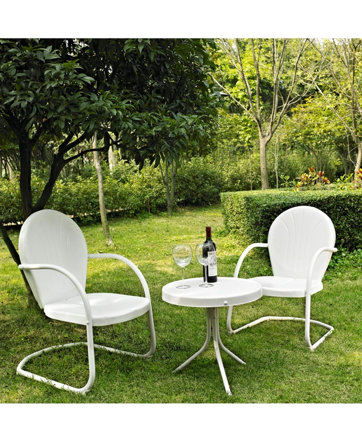 Crosley Griffith 3 Piece Metal Outdoor Conversation Seating Set