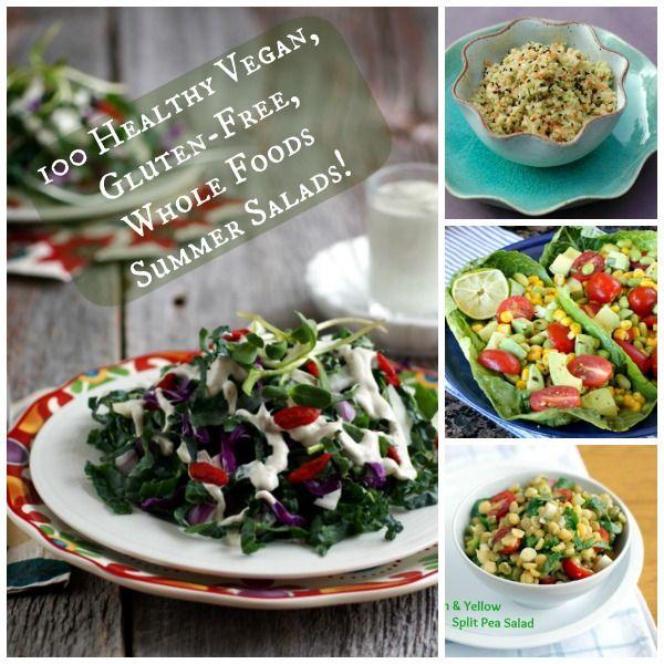 100 Healthy Vegan, Gluten-Free, Whole Foods Summer Salads! (#vegan #glutenfree #recipe)