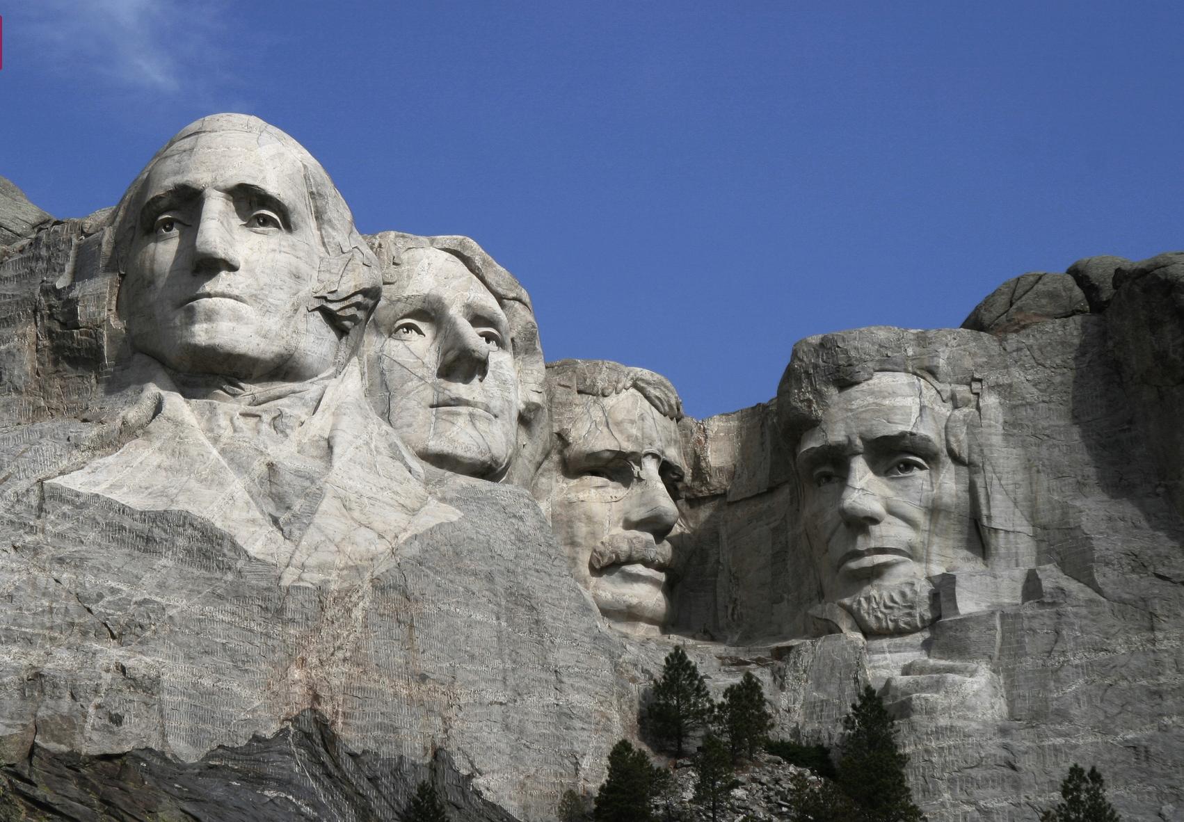 Washington Jefferson Roosevelt Lincoln By Guzton Borglum Mount Rushmore Black Hills Keystone Dunia