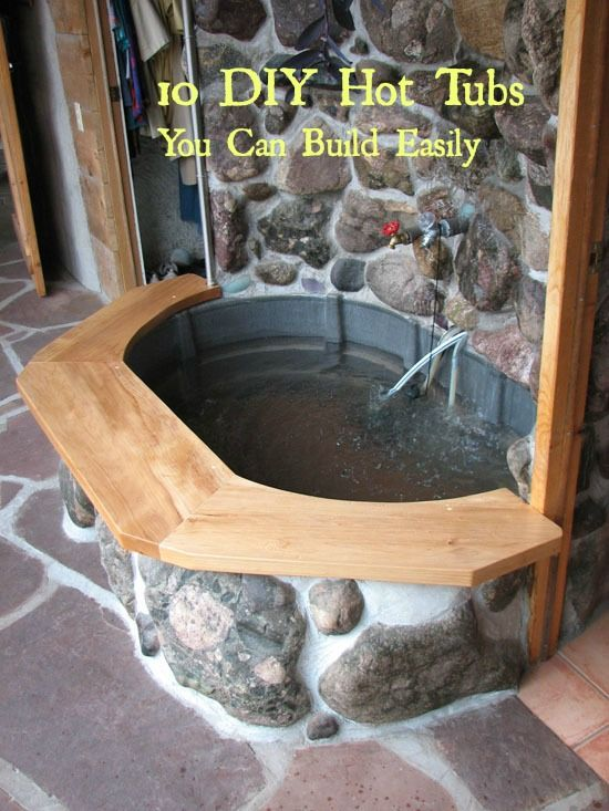 10 diy hot tubs that are inexpensive to build homesteading rh pinterest com