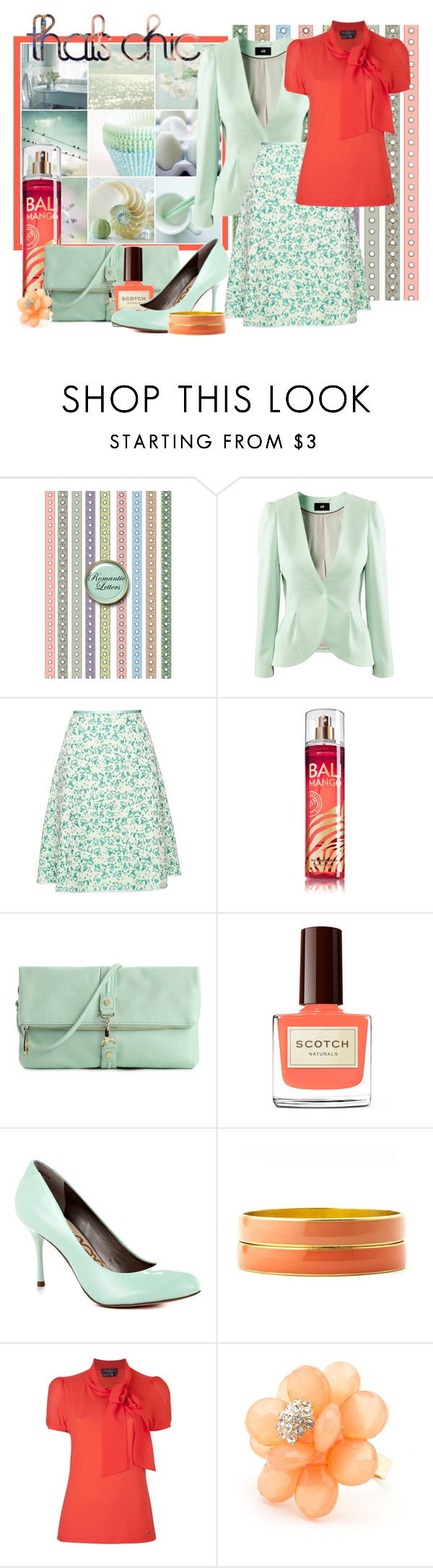 """""""Dare to be chic"""" by heather-peace ❤ liked on Polyvore featuring Shabby Chic, H&M, Giles, Steve Madden, Sam Edelman, Charlotte Russe and Salvatore Ferragamo"""