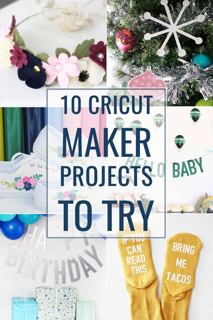 #ad 10 Cricut Maker project ideas are so fun! Whether you are a beginner or a seasoned Cricut crafter, you'll love these new and unique Cricut projects! #cricutcreated #cricutmaker #cricutcrafts #cricutknifeblade #cricutideas #cricutprojects #cricutprojectideas