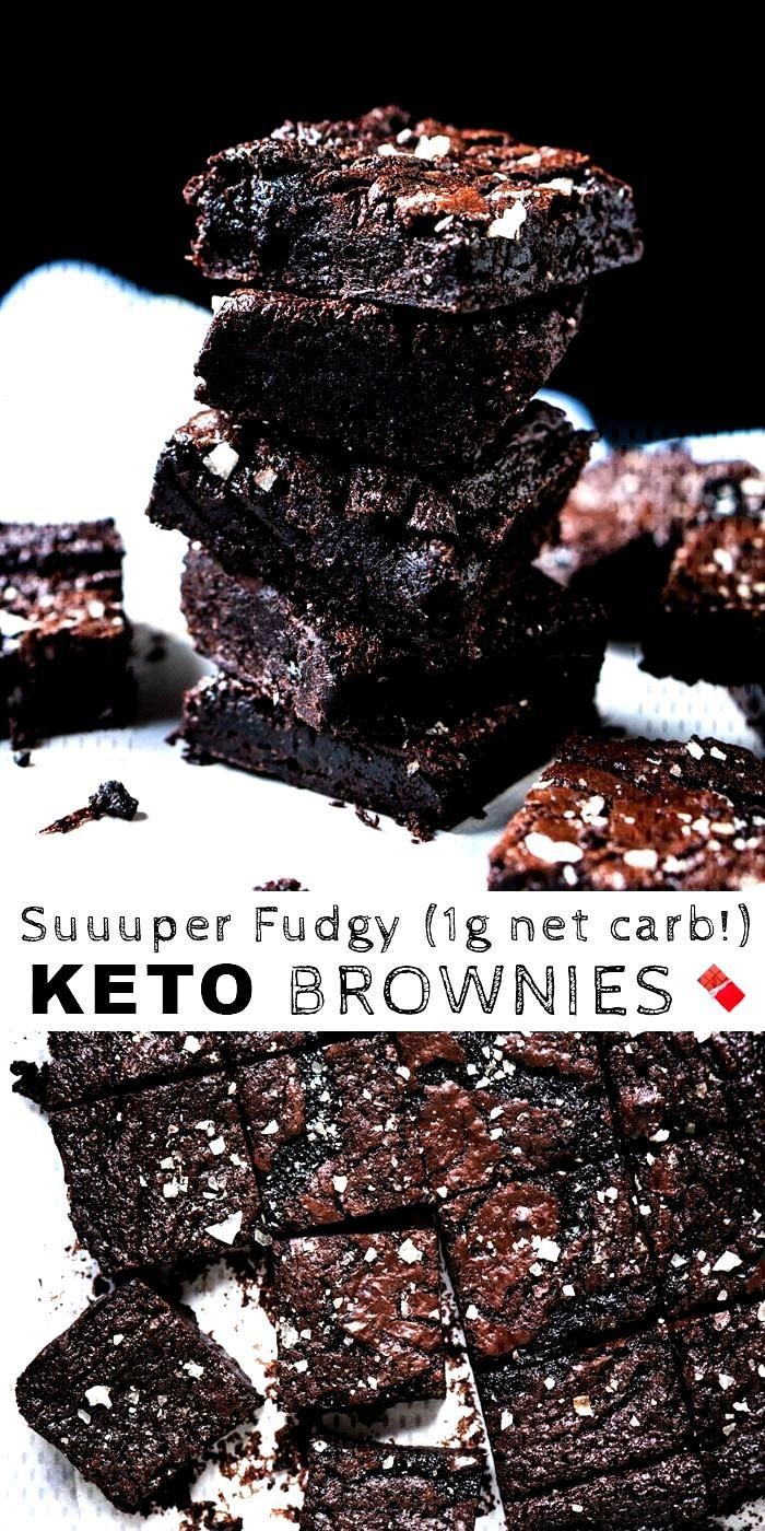 (1g net carb!) Suuuper Fudgy Gluten Free, Paleo amp Keto Brownies. The ideal quick and easy low ca