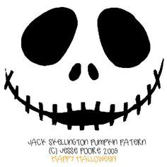 nightmare before christmas pumpkin stencil - Google Search ...