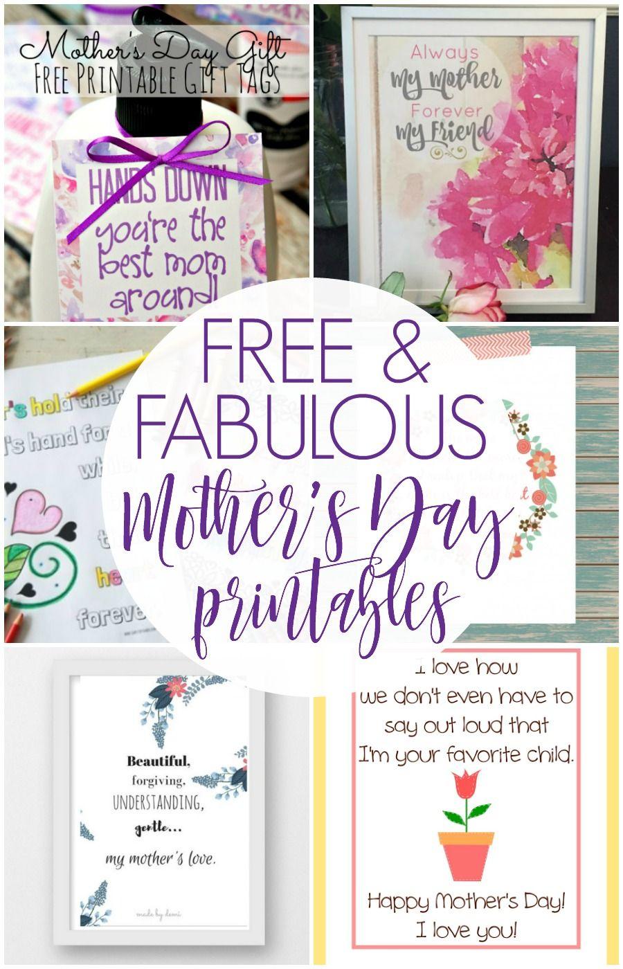 mother s day printables spring printables pinterest rh pinterest es