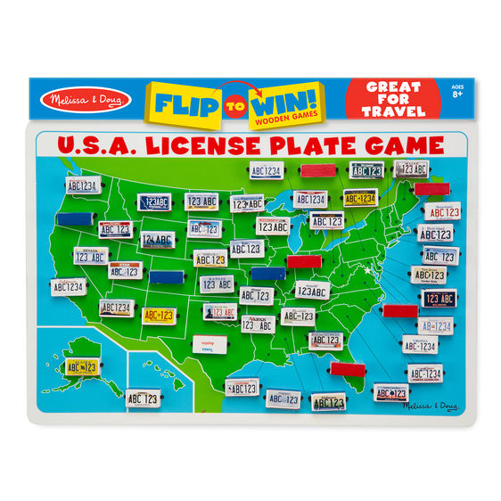 U S A License Plate Game Travel Game Puzzle Shop Cool