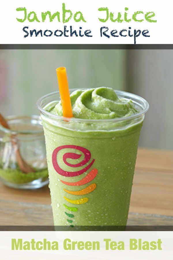 Photo of Jamba Juice Matcha Green Tea Blast Smoothie Recipe