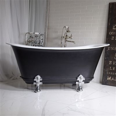 The Fontenelle67 67 Freestanding Cast Iron Chariot Clawfoot Tub