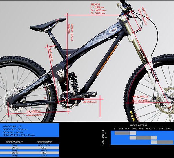 Zerode G2 Downhill Bike Bike Frame