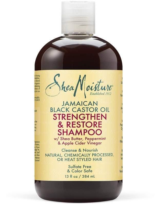 Sheamoisture Strengthen Restore Travel Shampoo By Sheamoisture Jamaican Black Castor Oil Textured Hair Shea Moisture Products Shampoo Castor Oil Shampoo