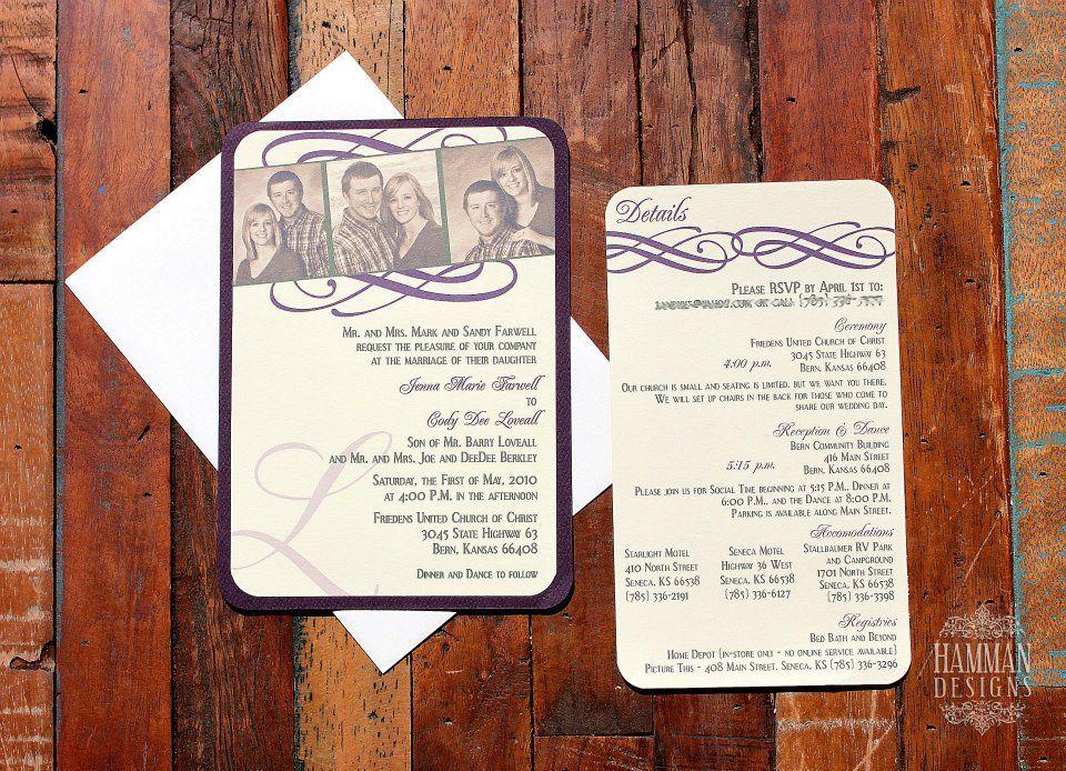 Custom Wedding Invite Custom Wedding Invite