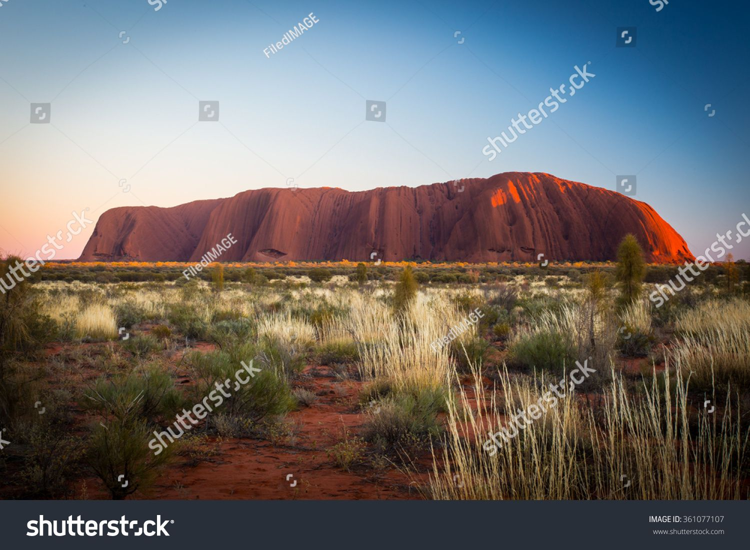 Majestic Uluru At Sunrise On A Clear Winter S Morning In The