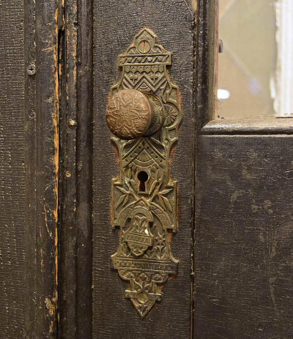 Victorian Double Door With Eastlake Hardware