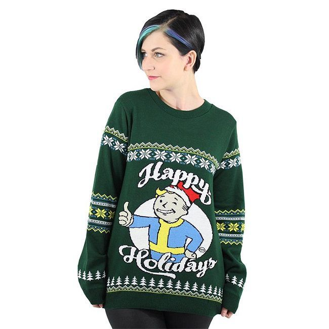 Ugly Holidays Christmas Sweater Happy Fallout Ew1xaqXX